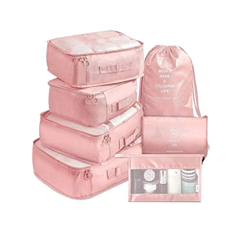 SJYDQ Bolsa 7 Pedazo de la Ropa Clasificación de Almacenamiento, Zapatos Maleta Bolsa Impermeable y Conveniente cosméticos Bolsa de Almacenamiento de Ropa