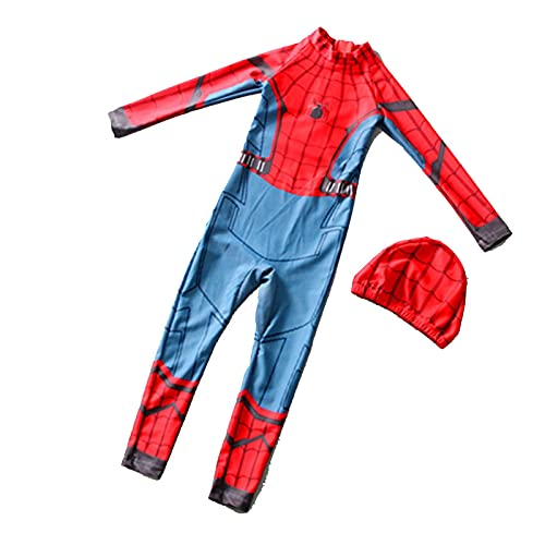 Traje De Bao para Nio Spiderman Cosplay Piscina Trajes Seguros El Sol Verano Vestidos Transpirables Moda Nias Surf