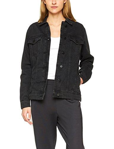 NOISY MAY Damen NMOLE L/S Denim Jacket NOOS Jeansjacke, Schwarz (Black Black), 36 (Herstellergröße: S)