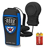 Digital Illuminance Light Meters AP-8801C Light Meter for Photography Measure Light 0.1~400,000 Lux with Extendable Light Detector up to 2m, Data Hold, Lux/FC Selection for Par Photography Plants