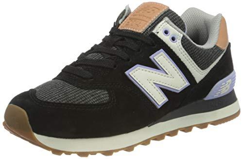 New Balance 574, Zapatillas Mujer, Black, 38 EU