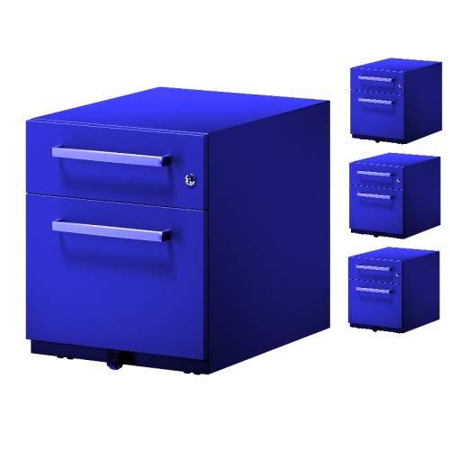 4x Note™ Rollcontainer • Schreibtisch- Metallcontainer • Bisley