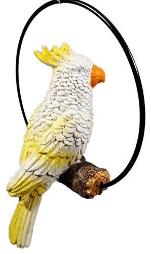 Odekerken schöner Kakadu sitzt auf einem AST 18 x 13 cm Vogel Papagei Tier Figur Deko F11