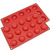 2 piezas Molde de Silicona, LAEMALLS Moldes de grado alimenticio para Dulces, Bombones, Pasteles, Galletas, Jalea, Jabó, Cubitos de Hielo, uso seguro en lavavajillas y microondas, color al azar#1