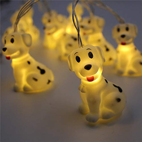Fairy Lights Cute Dog String Lights Battery Operated Led Animal Lamp Warm White Copper Wire Fairy String Light for Children Indoor Decorative Festival Lights for Bedroom Party Holiday Christmas (Dog)