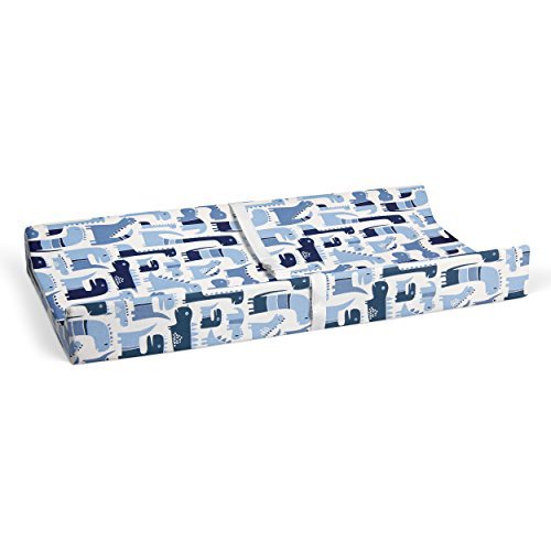 Glenna Jean Dino Blue 16' x 32' Changing Pad Cover for Baby Nursery