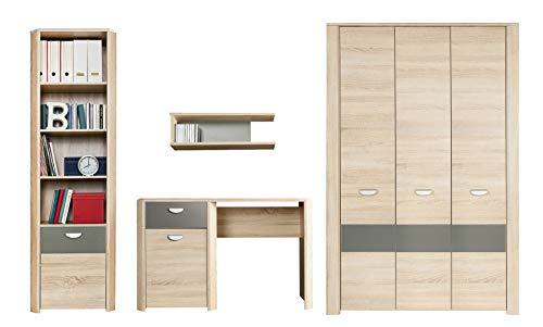 furniture24_eu Wohnwand YOOP Kleiderschrank Schreibtisch Hängeregal Bücherregal