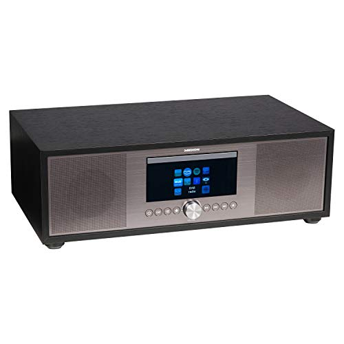 MEDION P66024 All in One Audio System (Internet, DAB+, PLL-UKW Radio, CD/MP3-Player, Bluetooth 5.0, 2.1 Soundsystem, Kompaktanlage)
