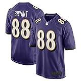Dez Outdoor Bryant Maillot de football Baltimore Rugby Ravens Jeux Violet #88 Tissu en maille respirant décontracté pour homme