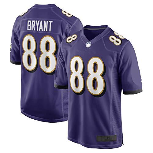 HUOJIAN Dez al aire libre Bryant Fútbol Baltimore Rugby Ravens Jerseys Juego Púrpura Jersey #88 Malla Transpirable Tela Al Aire Libre Casual Entrenamiento Camisa Para Hombres