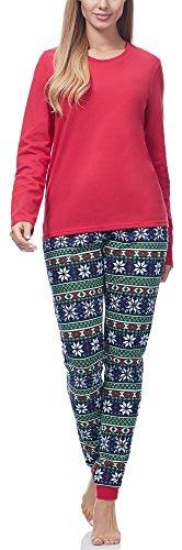 Ladeheid Pijama Conjunto Camisetas y Pantalones Ropa de Casa Mujer LA40-115