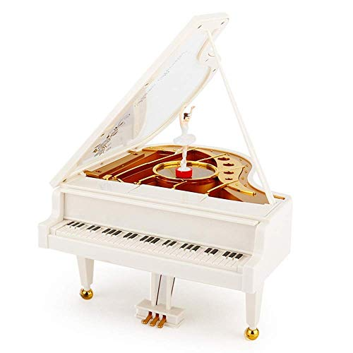 Brightz Bailar Piano Music Box Music Box Enviar Novia Girl Child Regalo de cumpleaños Regalo romántico decoración Elegante y Hermosa