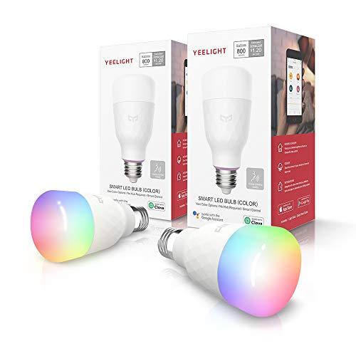 Yeelight Lâmpada E27 Wi-Fi 2ª Geração, Kit com 2, Funciona com Alexa