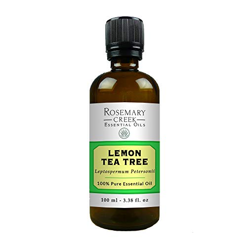Lemon Tea Tree Essential Oil (Leptospermum Petersonii) – 100% Pure and Natural, Therapeutic Grade – 3.38 Fl oz – for Massage Therapy, Oil Diffusers and DIY Products – by Rosemary Creek Essential Oils