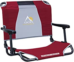 GCI Outdoor Big Comfort Wide Stadium Bleacher Seat with Back and Armrests, Red