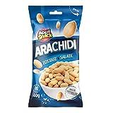 Aperisnack® - AP04.001.12 Arachidi Tostate e Salate 33pz bustine monoporzione in vassoio espositore in cartone ideale come snack da portare con se