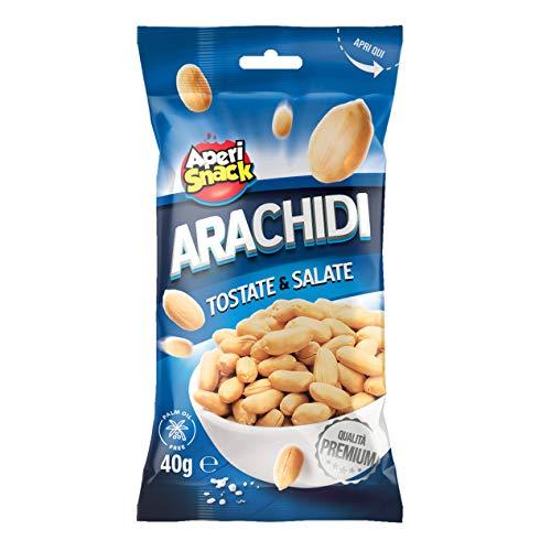 Aperisnack® - AP04.001.08 Arachidi Tostate e Salate (100pz) in bustine monoporzione ideale come snack da portare con se