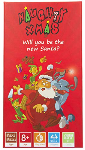 Naughty Xmas  The Family Card Game Will You be The New Santa Crazy Fun and Competitive Card Game Best for Kids Ages 8 and Up Teens Adults amp Friends