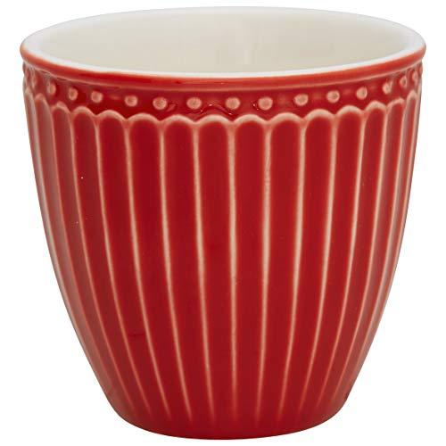 GreenGate - Becher, Tasse, Kaffeetasse, Mini Latte Cup - Alice - Porzellan - red - 125 ml