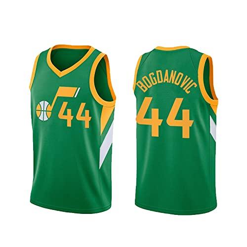 BXWA-Sports Men's NBA Basketball Jersey Jazz # 44 Bojan Bogdanovic Baloncesto Uniforme Cómodo Malla Transpirable Bordado Unisex Retro Sin Mangas Deportes Chaleco,S