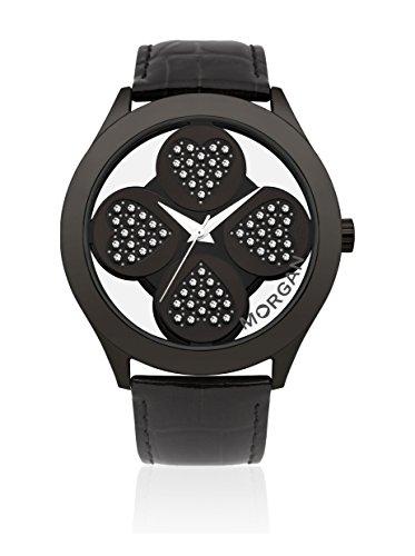 Morgan de Toi M1133BB - Reloj analógico de Cuarzo para Mujer, Correa de Cuero Color Negro