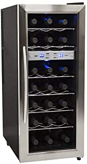 EdgeStar TWR215ESS 21 Bottle Freestanding Dual Zone Stainless Steel Wine Cooler