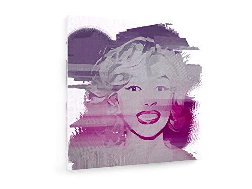 weewado Martin Dawson - Norma Jean 50x50 cm Textil-Leinwandbild auf Keilrahmen - Wand-Bild - Kunst, Gemälde, Foto, Bild auf Leinwand - Erotik