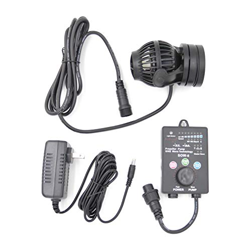 Jebao SOW Wave Maker Flow Pump with Controller for Marine Reef Aquarium (SOW-8), Black