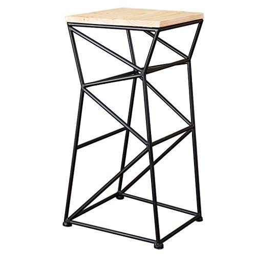 ZWL Tabouret de bar, tabouret de bar en bois solide simple et moderne en fer forgé mode (taille : A)