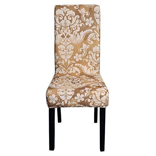 Topchances Fundas de silla de elastano elástico para comedor, extraíble y lavable, protector de silla de tela para hotel, banquetes, cenas, reuniones, celebraciones (Européen 17, seis paquetes)