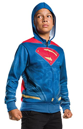 Rubie's Costume Boys Justice League Superman Hoodie Costume, Small, Multicolor