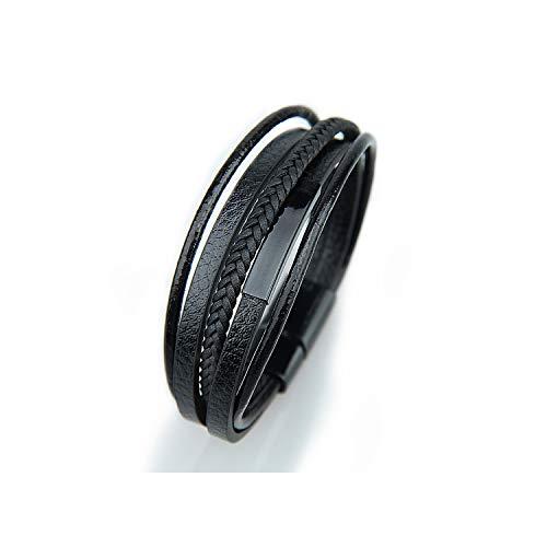 Männer geflochtenes Leder Armbänder schwarz und braun Farbe mit Elegent Armband für Mann, No.7