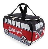 Brisa VW Collection - Borsa termica per Volkswagen Hippie Bus T1, 25 l, colore: Rosso/Nero
