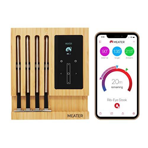 MEATER Block | Termometro WiFi con Quattro Sonde Senza Fili Per Forno, Grigliate, Barbecue. App in Italiano Compatibile con iPhone, Android, iPad e Tablet