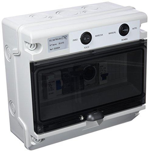 Productos QP Cuadro Electrico CD hasta 2 CV, 50W, Negro, 31x25x27 cm, CE3004