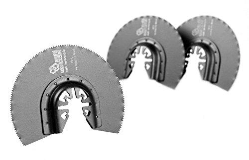 MW multi werkzeug® 3 Stück HCS Universal Multitool Segment-Sägeblätter 88mm für Holz, Gips und Kunststoff passend für AEG, Bosch, Einhell, Fein Multimaster, Makita, Topcraft, Worx