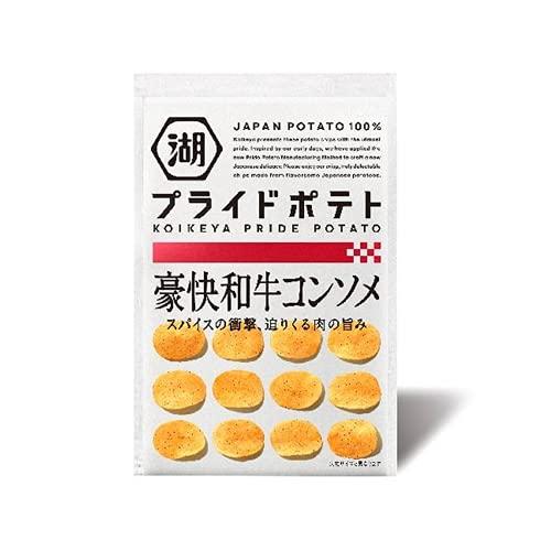 湖池屋 KOIKEYA PRIDE POTATO(湖池屋プライドポテト) 豪快和牛コンソメ 6袋 ポテトチップス スナック菓子