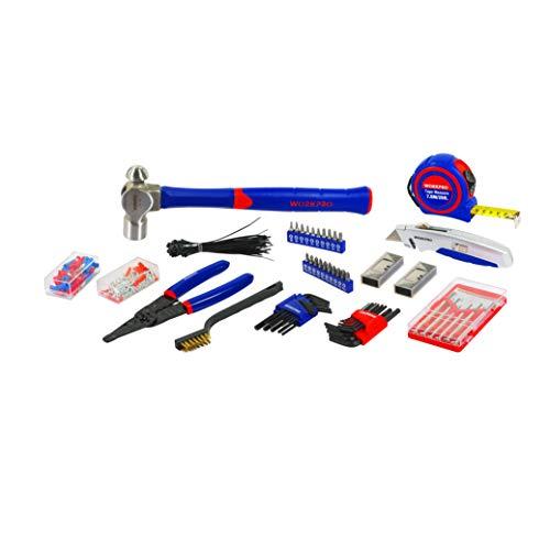 WORKPRO Werkzeugkoffer Mechanik Metall mit 3 Schubladen Heavy Duty Werkzeugschrank (408Stück) - 6