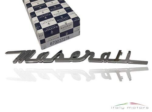 Maserati Original Schriftzug Emblem Kofferraum Chrom 670037278