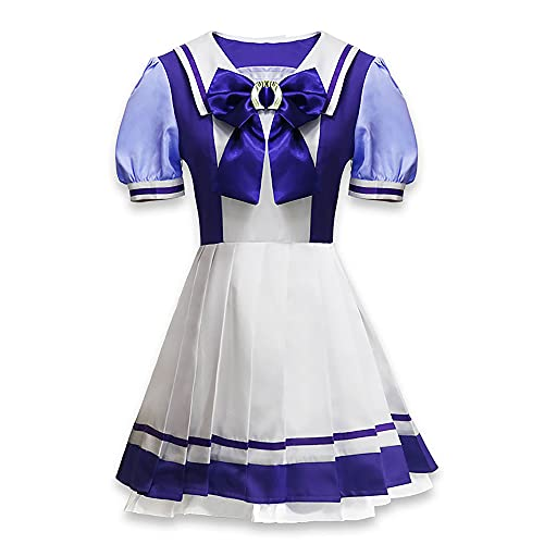 yinYSR Anime Pretty Derby Disfraz de Cosplay UMA Musume, Uniforme de Escuela Secundaria Japonesa, Vestido de Marinero, Disfraz de Cosplay de Carnaval de Navidad de Halloween