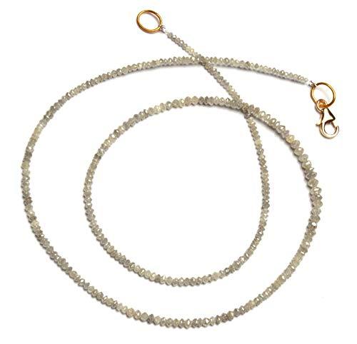 16.5 inch streng natuurlijke witte diamant 1.7-2.5 mm rondel facet kralen - verkoop - natuurlijke super kwaliteit witte diamant kralen ketting 16.5