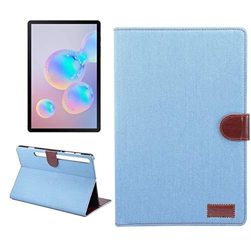 Caso Para Samsung Galaxy Tab S7 T870 Denim Texture PC Horizontal Flip de cuero Funda protectora, con soporte y ranuras para tarjetas y billetera y marco de fotos y función de descanso / despertador