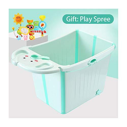 FHKL Bañera Bebé, El Cubo De Baño para Niños Grande Puede Sentarse Y Pararse para Un Plegado Instantáneo Almacenamiento Conveniente Gran Espacio Aislamiento Antideslizante