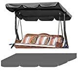 KOET Swing Top Cover, Porch Swing Awning Replacement Canopy Cloth Rainproof Garden Chair