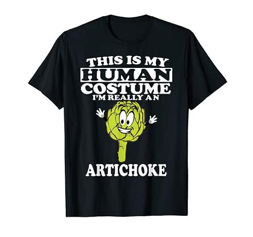 Este es mi disfraz humano soy realmente una alcachofa vegetal Camiseta