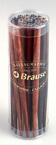 Brause 1620B - Confezione di 20 cannucce per pennini in legno naturale, Multicolore
