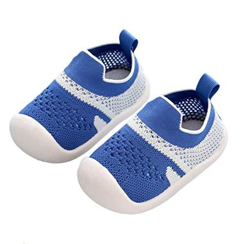 DEBAIJIA Peuter Schoenen 1-3T Baby Eerste Wandelschoenen Kinder Schoenen Jongens Zachte Zool Lichtgewicht Antislip Ademend (Lichtblauw-21)