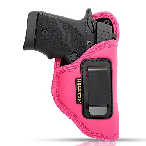 """IWB Woman Pink Gun Holster - Houston - ECO Leather Concealed Carry Soft 