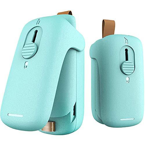 Bugucat Mini Folienschweißgerät #201,Vakuumierer 2 in 1(Versiegeln-Öffnen) Beutel Versiegelungsgerät,Handlicher Tüten Verschweißer Verschließen für Snack Lebensmittelbeutel Manual Bag Sealer