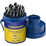 COMOWARE Drill Bit Set Round Case - 29 Pcs High...